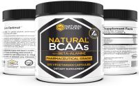 Natural Stacks: Natural BCAAs w/Beta-Alanine Capsules - Amino Acids - 30 Day Supply - Vegetarian - Shown to Increase Strength and Endurance - May Help Muscles Recover Faster