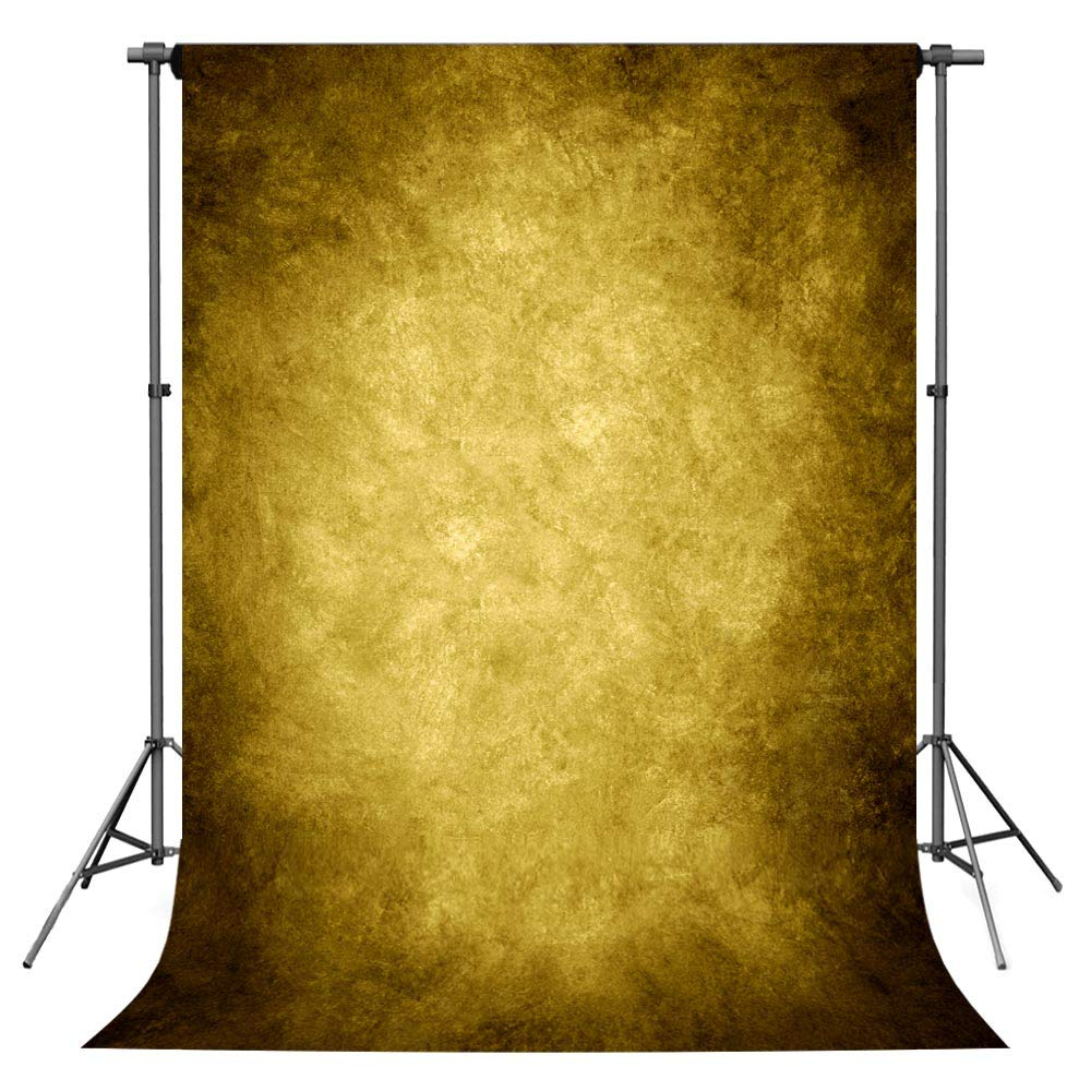 Photo Backdrop, econious 5x7ft Retro Abstract Yellow Portrait Backdrop for Photography, Resistant Fleece-Like Cloth Fabric, with Rod Pocket (Backdrop Only)