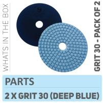 Stadea PPW118D Concrete Sanding Polishing Pads 4 Inch Grit 30 - Diamond Pads For Concrete Terrazzo Marble Floor Granite Stone Counter Wet Polishing - Pack of 2
