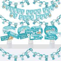 Big Dot of Happiness Arctic Polar Animals - Banner and Photo Booth Decorations - Winter Baby Shower or Birthday Party Supplies Kit - Doterrific Bundle