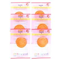 SpaLife Korean Soothing Spa Cooling Eye Pads - 48 Pads - With Fruit + Vegetable Extracts - Depuff Eyes + Reduce Dark Circles (Orange)