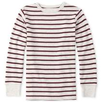 The Children's Place Boys' Big Long Sleeve Striped Thermal Shirt
