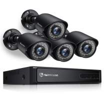 HeimVision 1080P Security Camera System, 8CH 5MP-Lite DVR 4Pcs 1920TVL Outdoor Wired CCTV Camera with Night Vision, Motion Alert, No Hard Drive