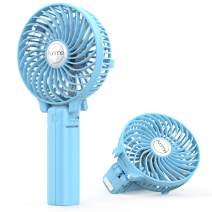 FUNME Mini Handheld Fan, 3 Speed Adjustable Personal Portable Fan 2600mAh Rechargeable Battery Operated USB Table Fan Cooling Foldable for Outdoor Hiking Travel Office Household, Blue