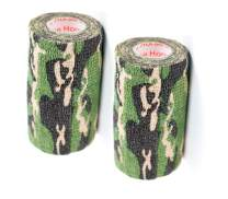 Vet Wrap Tape Self Adhesive Cohesive Bandage, FDA Approved, Camo Camouflage Colors Dog Cat Horse Self Stick Adherent Rap Tape 4 inch x 5 Yards 2, 4, 6, 12 or 24 Pack