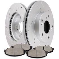 Brake Kits,SCITOO Front Discs Brake Rotors and Ceramic Pads fit for 2013-2015 Honda Civic