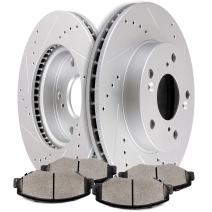 Brake Kits,SCITOO Front Discs Brake Rotors and Ceramic Pads fit for 2013-2015 Honda Civic