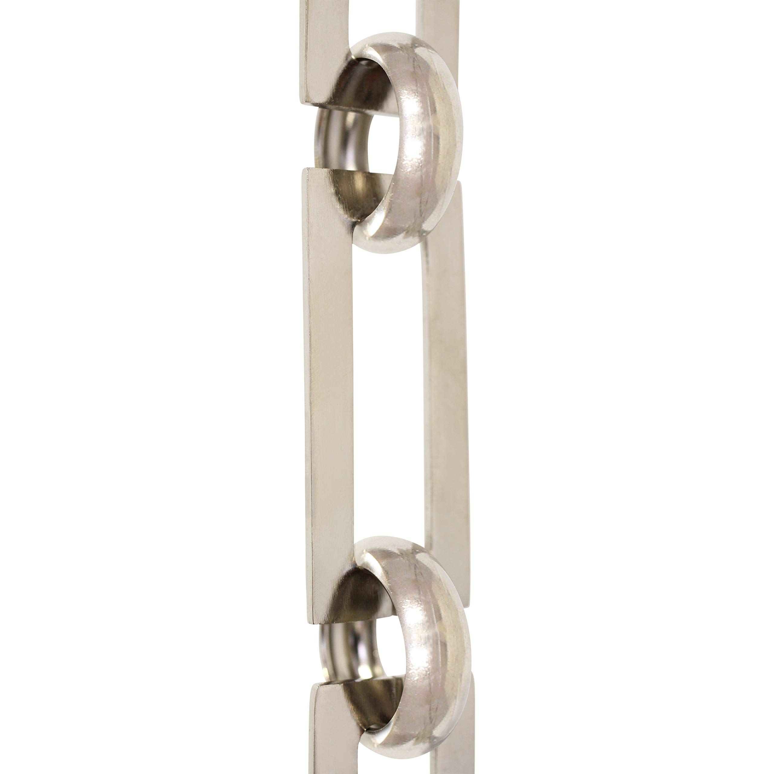 RCH Hardware CH-01-PN Brass Chandelier Chain, Polished Nickel (1 Foot)