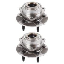 ECCPP Replacement for New Complete Front Wheel Hub Bearing Assembly 5 Lugs for 2006 Chevy Pontiac Saturn 513190 2pcs