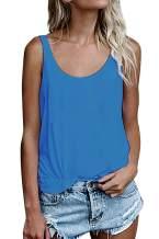 OMSJ Women Shirts Sleeveless Summer Tunic Loose Fit Tank Tops