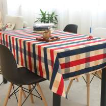 TEWENE Table Cloth, Wrinkle Free Cotton Linen Tablecloth Colorful Square Table Cloth Washable Tablecloths for Rectangle Tables for Dining Kitchen (Square/55''x55''/4 Seats, Red Checkered)