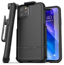 Encased iPhone 11 Pro Belt Clip Holster Case (2019 Rebel Armor) Heavy Duty Protective Full Body Rugged Cover with Holder (Black)