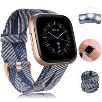 findway Compatible with Fitbit Versa/Fitbit Versa 2/Fitbit Versa Lite Bands,Versa Accessories for Women Men Breathable Woven Fabric Strap Adjustable Wristband for Fitbit Versa/Versa 2/Versa Lite
