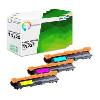 TCT Premium Compatible Toner Cartridge Replacement for Brother TN-225 TN225C TN225M TN225Y High Yield Works with Brother HL-3140 3150 3170, MFC-9130 9140, DCP-9020 Printers (C, M, Y) - 3 Pack