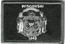Tactical State Patch - Wisconsin - Black White