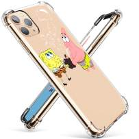 """Coralogo for iPhone 11 Pro Max TPU Case,3D Cute Cartoon Funny Design Character Protective Stylish Kawaii Fashion Fun Unique Cover Skin Teens Kids Girls Cases for iPhone 11 Pro Max 6.5"""" (Sponge Patrick"""