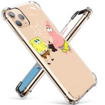 """Coralogo for iPhone 11 TPU Case, 3D Cute Cartoon Funny Design Unique Character Protective Kawaii Fashion Fun Cool Stylish Cover Kits Skin Teens Kids Girls Boys Cases for iPhone 11 6.1"""" (Sponge Patrick"""