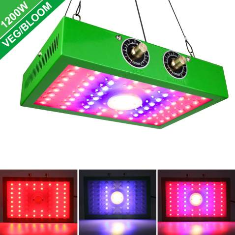 1200W LED Grow Light Hydroponic Full Spectrum Indoor Plant Flower Bloom Lamps