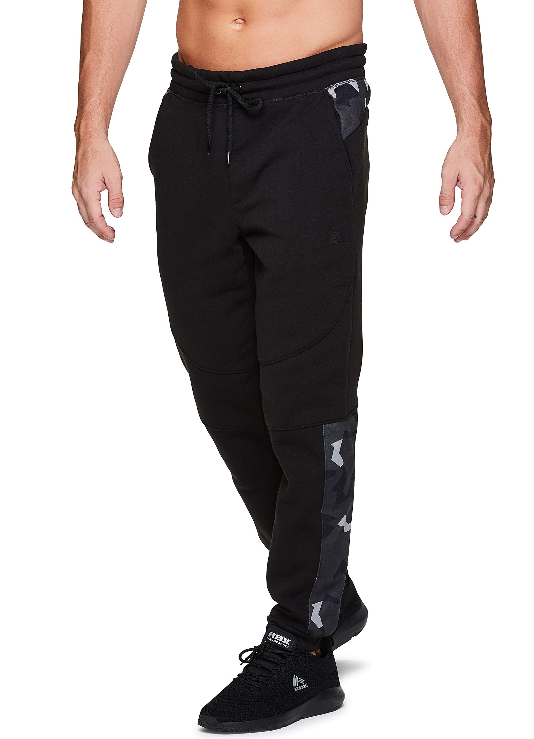 RBX Active Men's Athletic Fleece Lined Tapered Jogger Sweatpant with Pocket