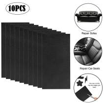 """Leather Repair Patch 10 Pieces Leather Repair Kit Black Leather Adhesive Patch First-aid for Sofa, Car Seat, Handbag 4x8"""" Pack of 10 Small Black"""