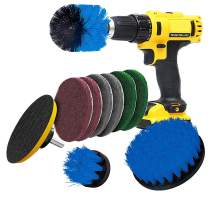 Drill Brush Attachment Drill Brush Power Scrub Pad Power Scrubbing for Plastics, Pool Lining, Pots, Hot Tubs, Pans, Tile, Corners