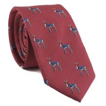Men's Novelty Ties Animal Patterned Embroidered Repp Casual Handmade Daily Skinny Necktie