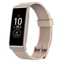 MyKronoz ZeFit4 Fitness Activity Tracker with Color Touchscreen & Smart Notifications - Powder Pink/Gold