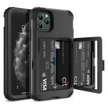 iPhone 11 Pro Max Wallet Case, WeLoveCase Defender Wallet Card Holder Cover with Hidden Mirror Three Layer Shockproof Heavy Duty Protection All-Round Armor Protective Case for iPhone 11 Pro Max Black