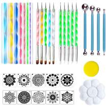 35 PCS Mandala Dotting Kit Mandala Dotting Tools and Stencils for Painting Rocks, Nail Dotting and Art Drawing Supplies