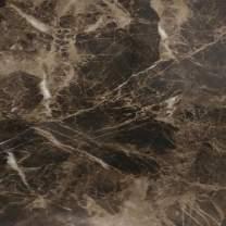 """EZ FAUX DECOR Countertop Paint? No Marble Peel Stick Contact Paper Dark Emperador Vinyl Film 36"""" x 36"""""""