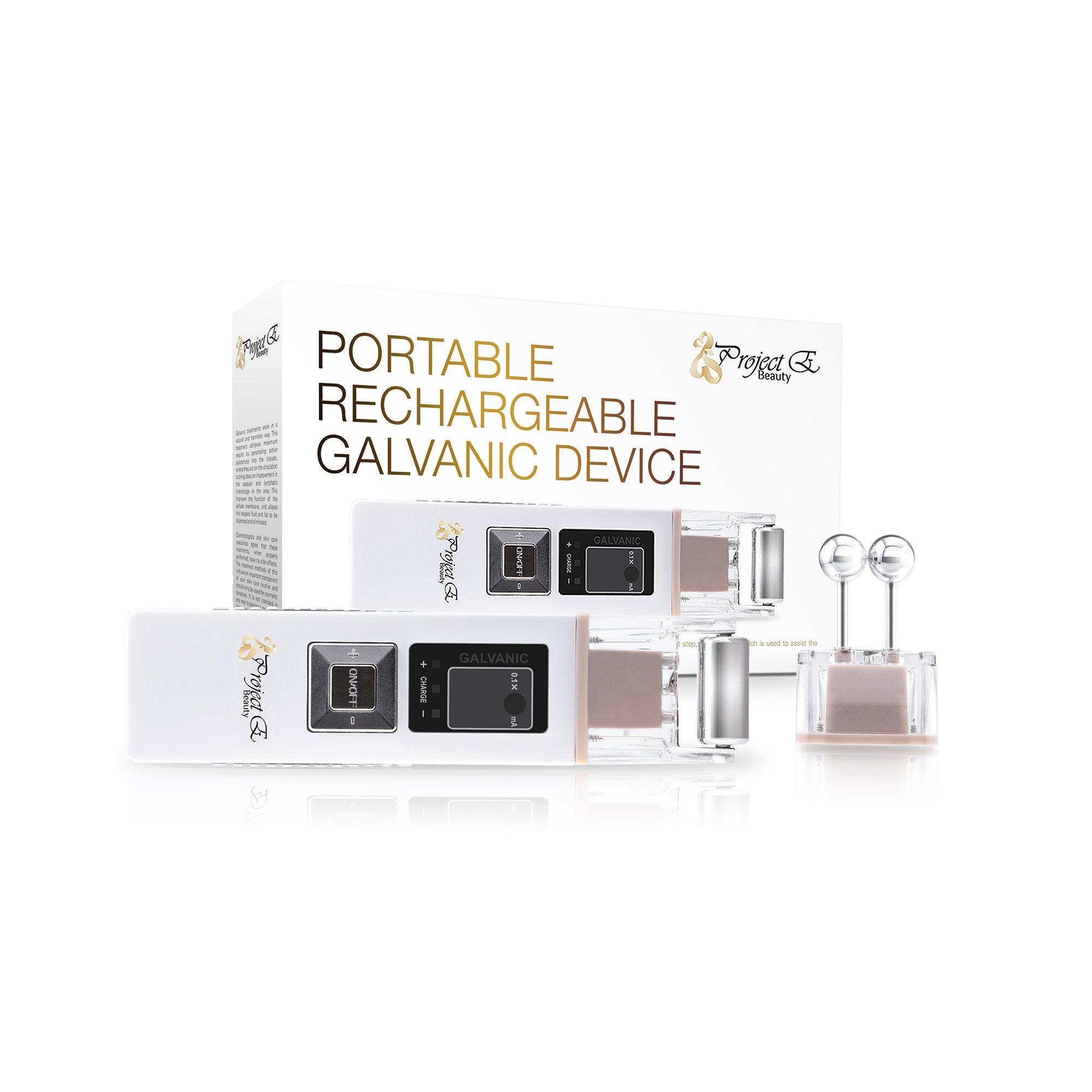 Project E Beauty Portable Wireless Galvanic Roller Beauty Facial Skin Care Spa Salon Anti Aging Massager Machine KD-9000