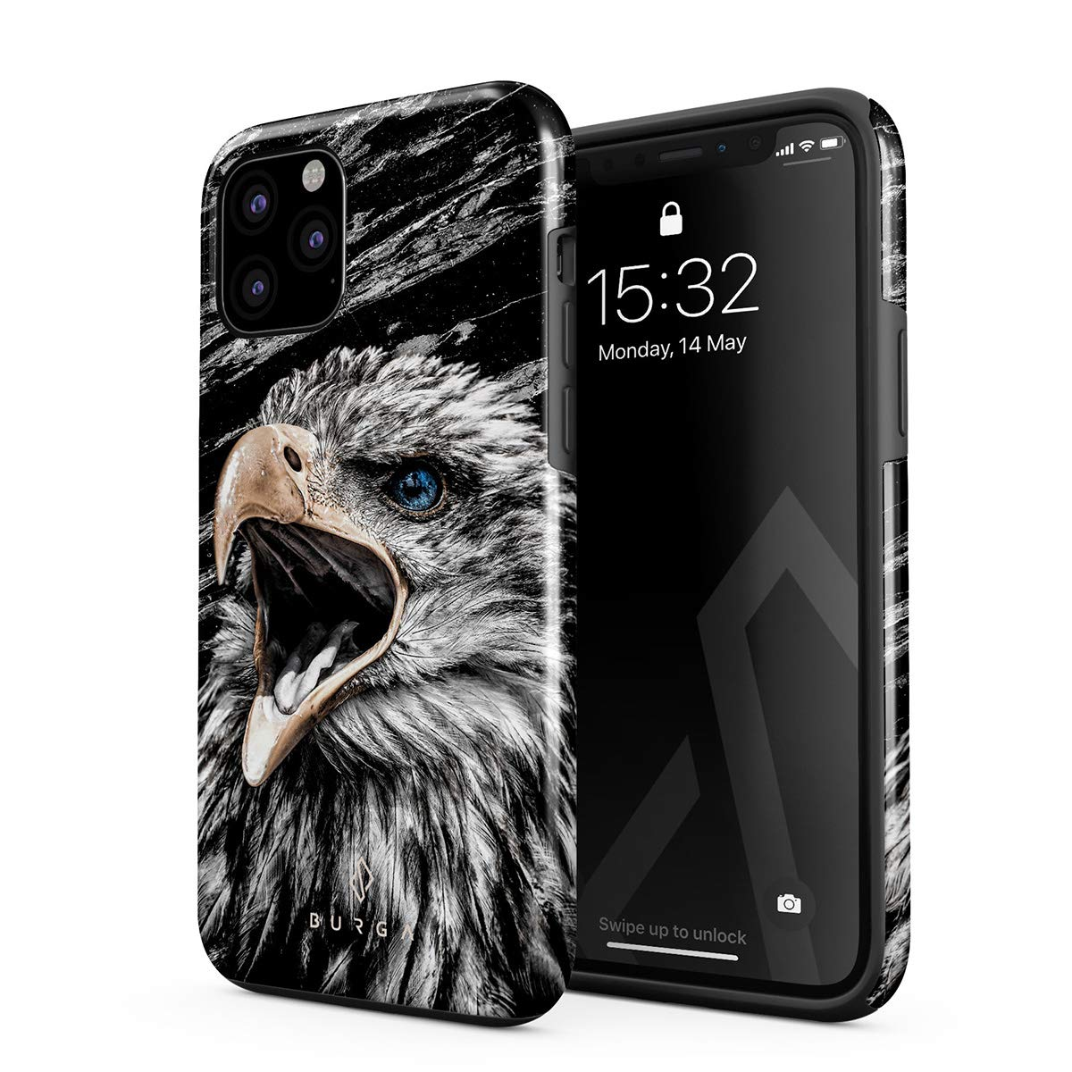 BURGA Phone Case Compatible with iPhone 11 PRO MAX - Bird of JOVE Savage Wild Eagle Cute Case for Girls Heavy Duty Shockproof Dual Layer Hard Shell + Silicone Protective Cover