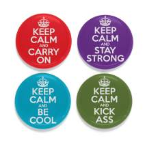 Buttonsmith Keep Calm Tinker Top Set - to use with Tinker Reel Badge Reel - Made in The USA