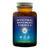 HealthForce SuperFoods Intestinal Movement Formula, Herbal Laxative, All-Natural, Organic, Non-GMO, Gluten-Free, Kosher, Vegan, 120 Count