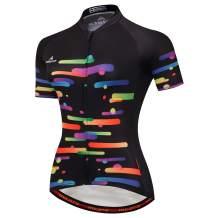 Vgowater Women's Cycling Jersey Short Sleeve Full-Zip Cycling Shirt Quick Dry Biking Top (Technology, M)
