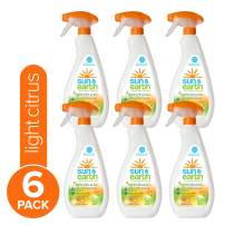 Sun & Earth All Purpose Cleaner, 22 fl oz, Pack of 6, Light Citrus Scent