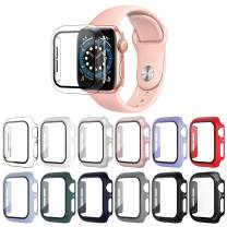 OMEE 12 Pack Apple Watch Case 42mm Series 3/2/1 with Tempered Glass Screen Protector, Ultra-Thin Hard PC Shockproof iWatch 42mm Accessories Bumper Full Protective Cover for Men/Women