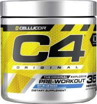 C4 Original Pre Workout Powder Icy Blue Razz| Vitamin C for Immune Support | Sugar Free Preworkout Energy for Men & Women | 150mg Caffeine + Beta Alanine + Creatine | 35 Servings