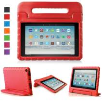 LTROP All-New Fire HD 10 Case - Shock Proof Fire HD 10 Tablet Case for Kids (7th Generation and 9th Generation, 2017 and 2019 Release) - Red