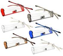 Lightweight Reading Glasses Frameless Readers With Flexible Arms For Men And Women [3.0, 6 Pack]