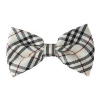 Dan Smith Mens Bowtie Set Feel Silk Plaid Bowties And Pocket Square Cuff-Links Set With Gift Box Various Colors