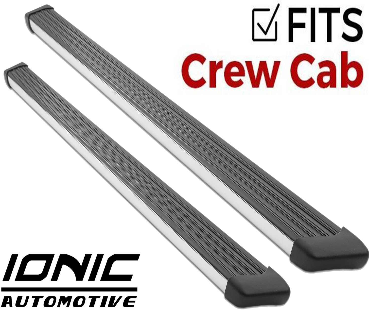 Ionic 61 Series Brite Running Boards 2015-2018 Chevy Colorado GMC Canyon Crew Cab