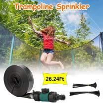 AODN Trampoline Sprinkler for Kids—Trampoline Waterpark Sprinkler Hose,Outdoor Water Play Toys for Kids Outdoor Trampoline Sprinkler Waterpark Summer Toys Backyard Water Games (Green, 26.24Ft)