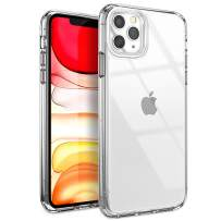 YOUMAKER Stylish Crystal Clear Case for iPhone 11 Pro Max, Anti-Scratch Shock Absorption Slim Fit Drop Protection Premium Bumper Cover Case for iPhone 11 Pro Max 6.5 inch (2019) - Clear