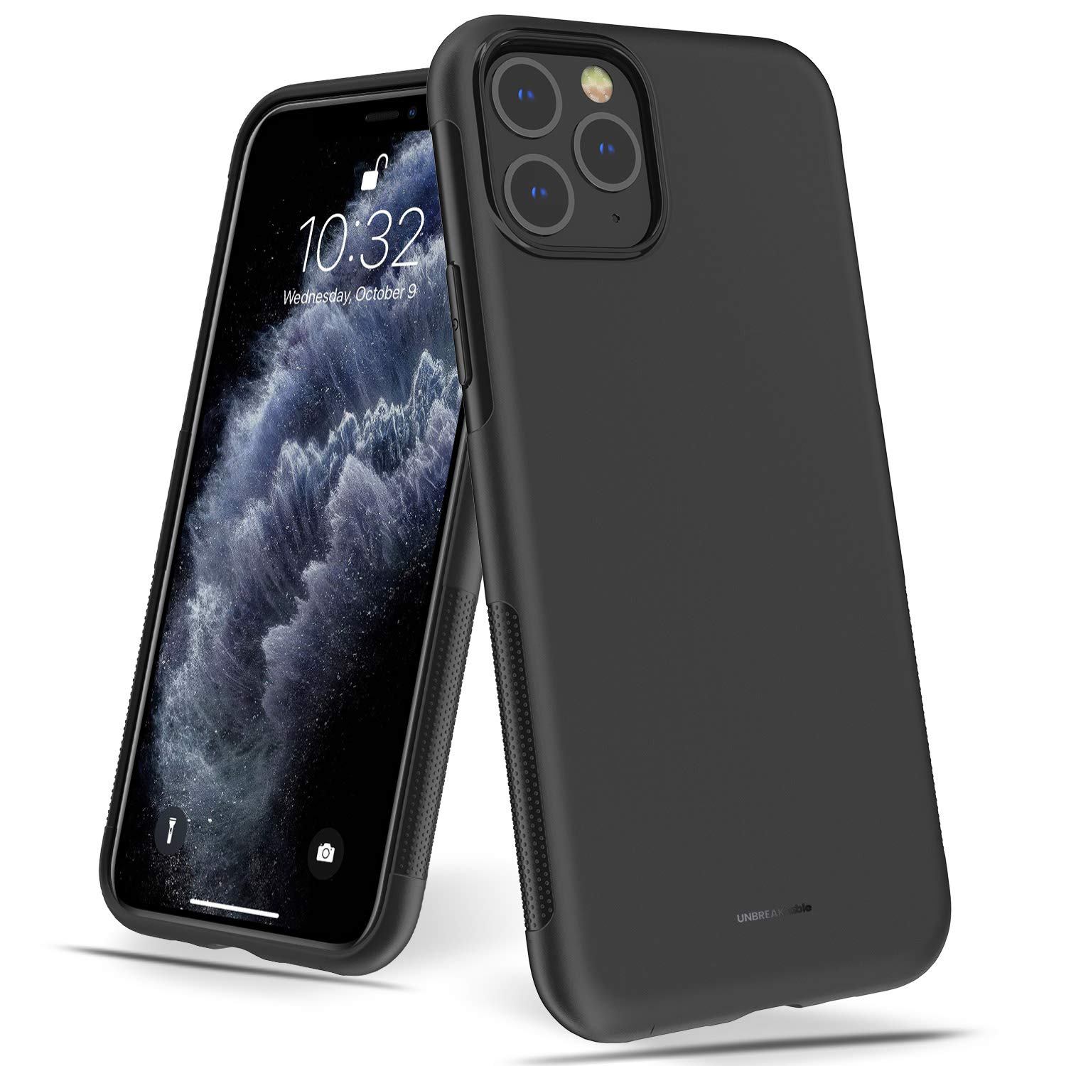 UNBREAKcable iPhone 11 Pro Case – NU Series Soft Frosted TPU Ultra-Slim Stylish Protective Cover for 5.8 inches iPhone 11 Pro [Drop Protection, Non-Slip] – Black