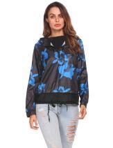 ELESOL Women's Lightweight Waterproof Hooded Raincoat Active Outdoor Rain Jacket