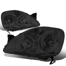 Replacement for Honda CRV FD1 FD2 8th Gen Pair of Smoked Lens Clear Corner Replacement Headlight Lamp