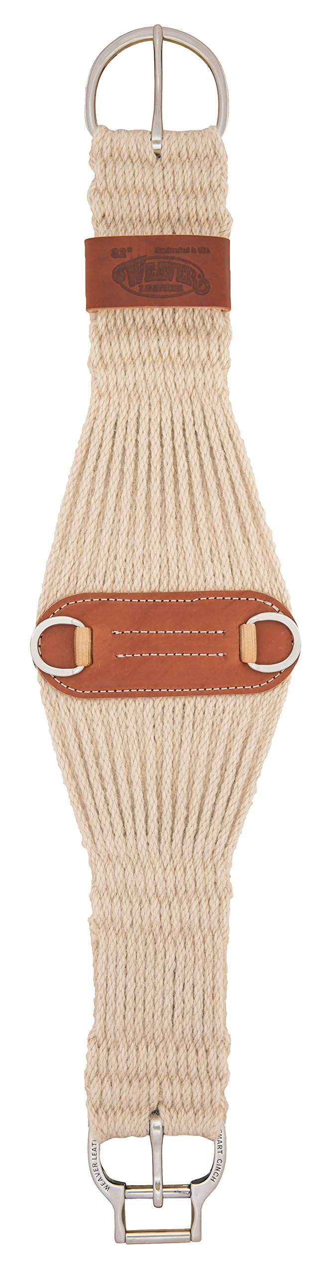 Weaver Leather Mohair Blend 27 Strand Smart Cinch with  Roll Snug Cinch Buckle