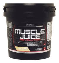 Ultimate Nutrition Muscle Juice Revolution 2600 Weight Gainer Protein Shake Powder - 71% Less Sugar, 74g Protein with Omega 3 and BCAAs (Vanilla, 11.1 Pounds)