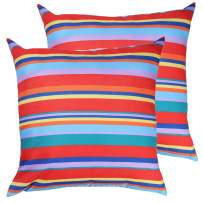Poise3EHome Outdoor Throw Pillow Covers Set of 2 Waterproof Decorative Pillow Covers for Couch, Patio Garden, Spring Summer Decor, 20X20 Inches, Color Stripe